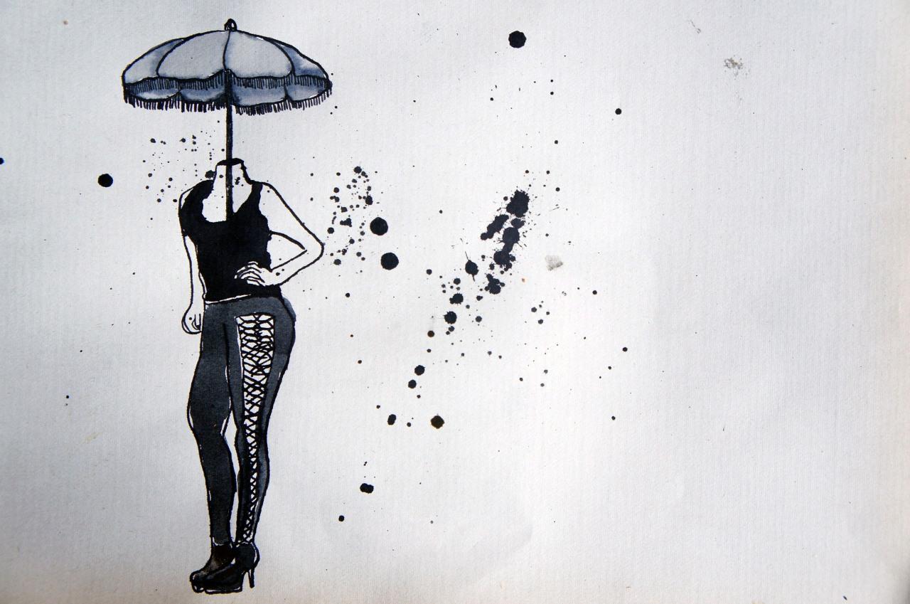 """""""femme sous parapluie"""""""