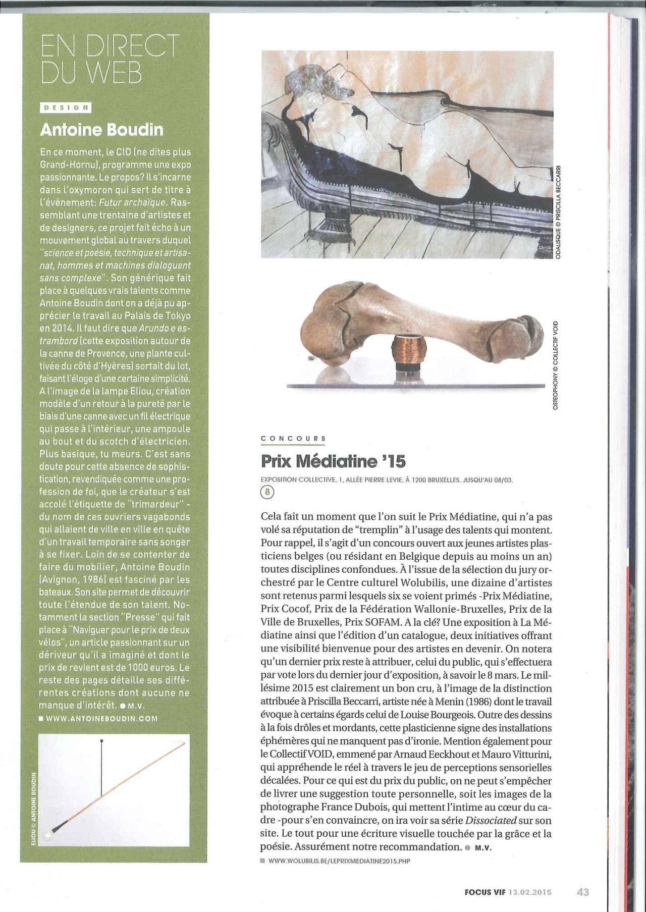 Focus Prix Mediatine